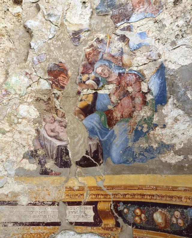 A fresco fragment from Madonna della Neve (XVI Century)