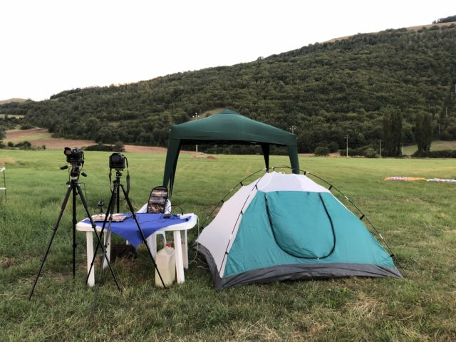 The imaging setup is up and waiting for the night