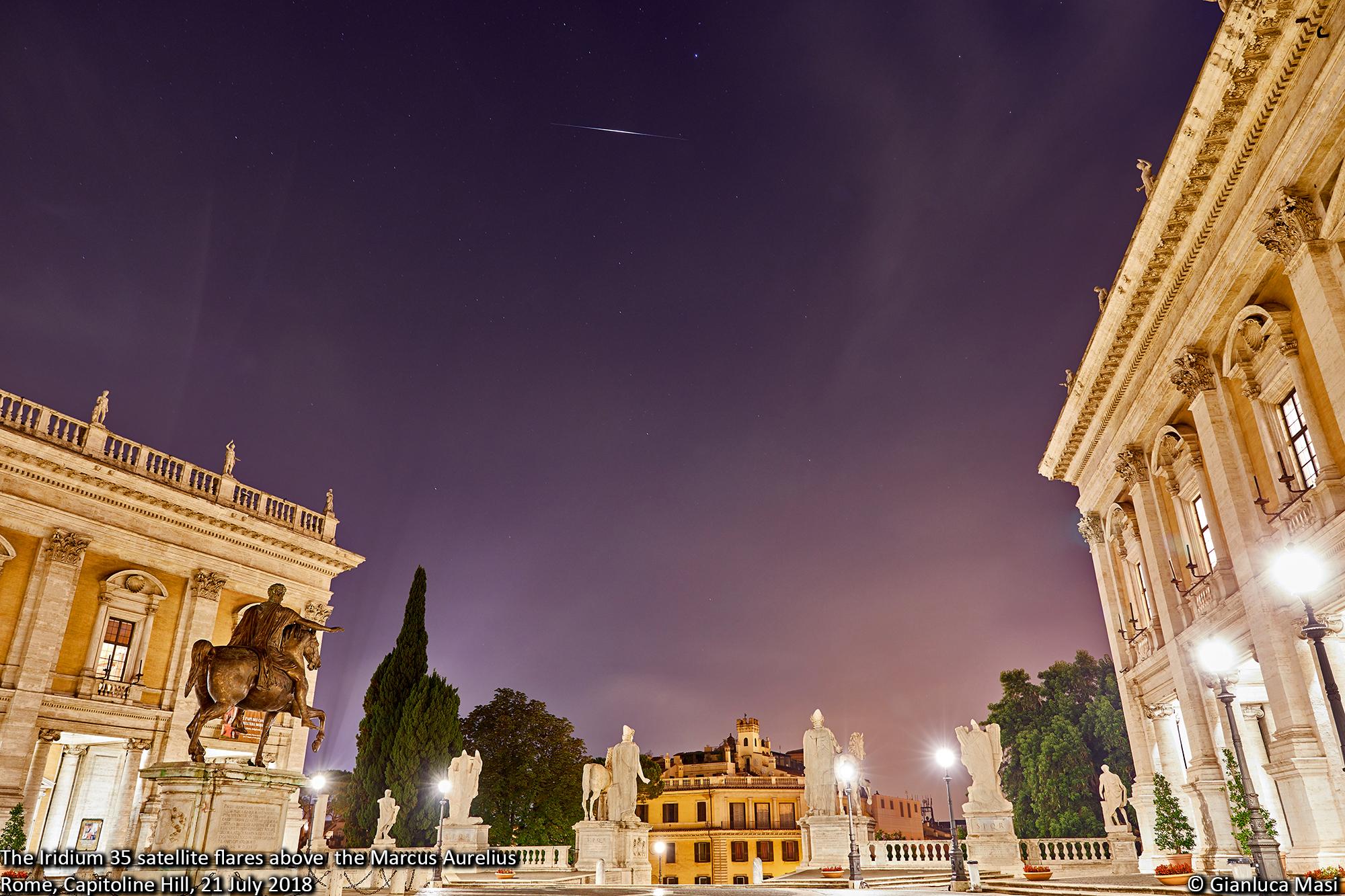 Iridium 35 flashes above Rome - 21 July 2018 - The Virtual