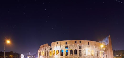 The International Space Station crosses the sky above Rome, embracing the Colosseum - 19 July 2018