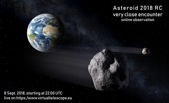 Near-Earth asteroid 2018 RC: poster of the event