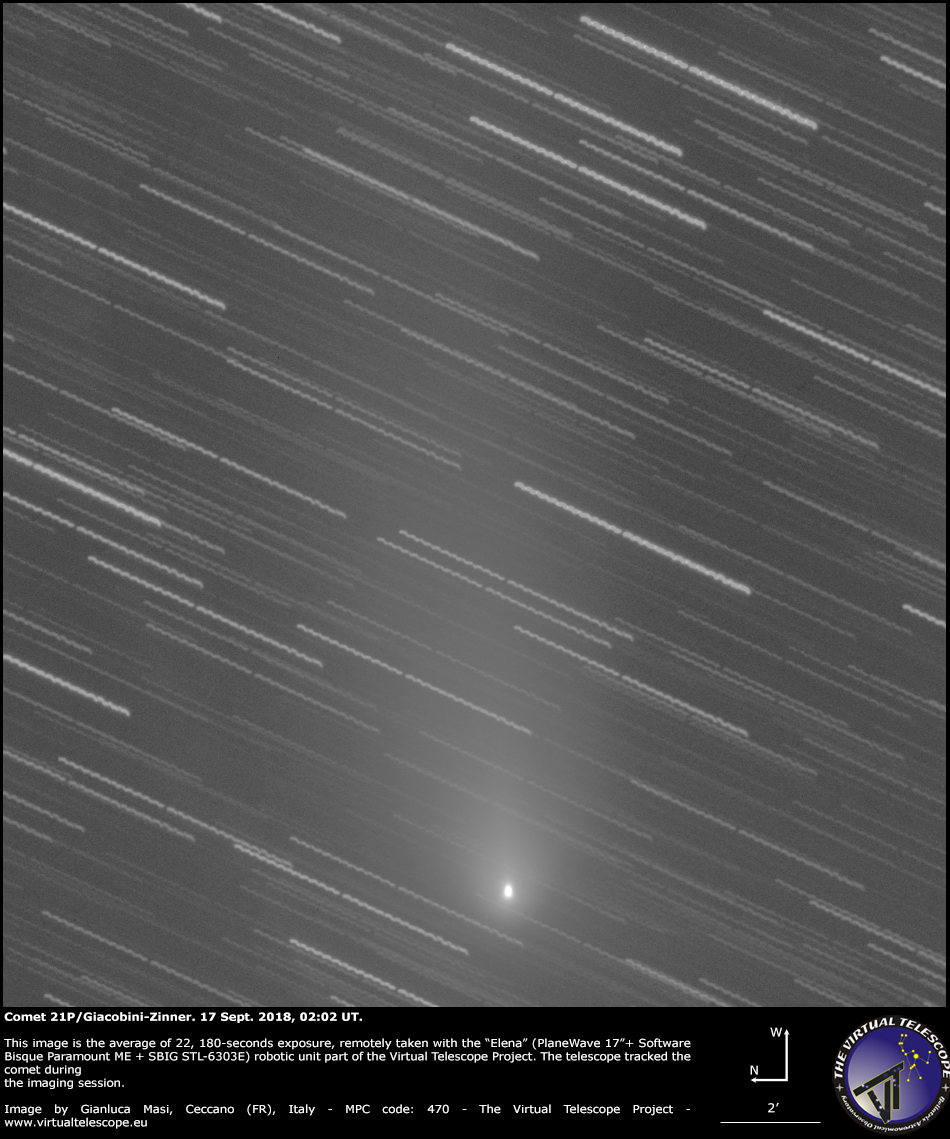 Comet 21P/Giacobini-Zinner: 17 Sept. 2018