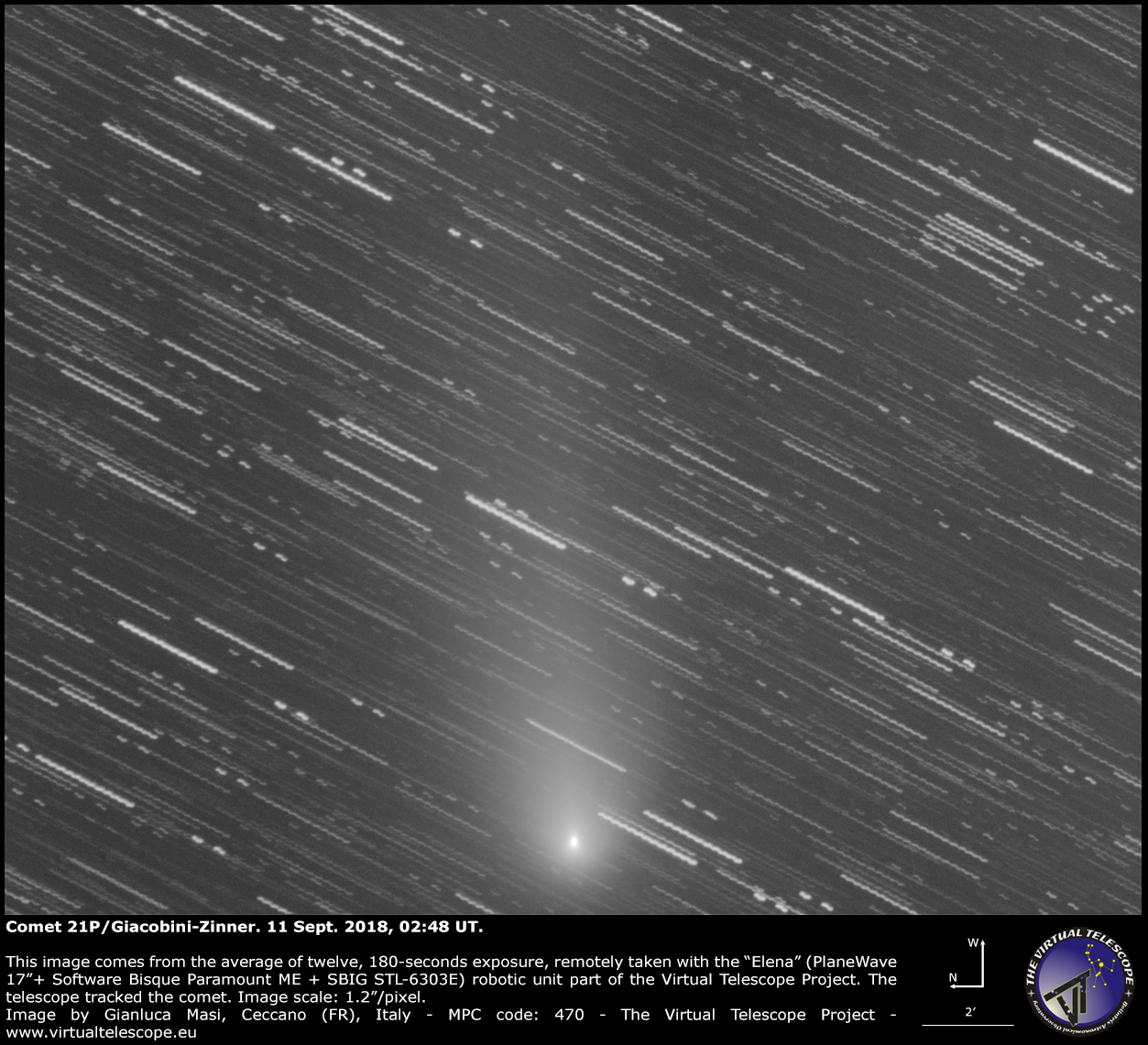 Comet 21P/Giacobini-Zinner: 11 Sept. 2018