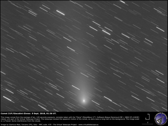 Comet 21P/Giacobini-Zinner: 9 Sept. 2018