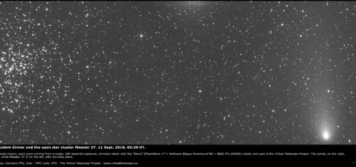 Comet 21P/Giacobini-Zinner and the open star cluster Messier 37 - 11 Sept. 2018
