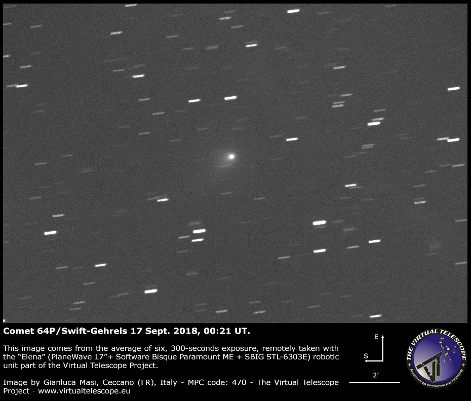 Comet 64P/Swift-Gehrels: 17 Sept. 2018