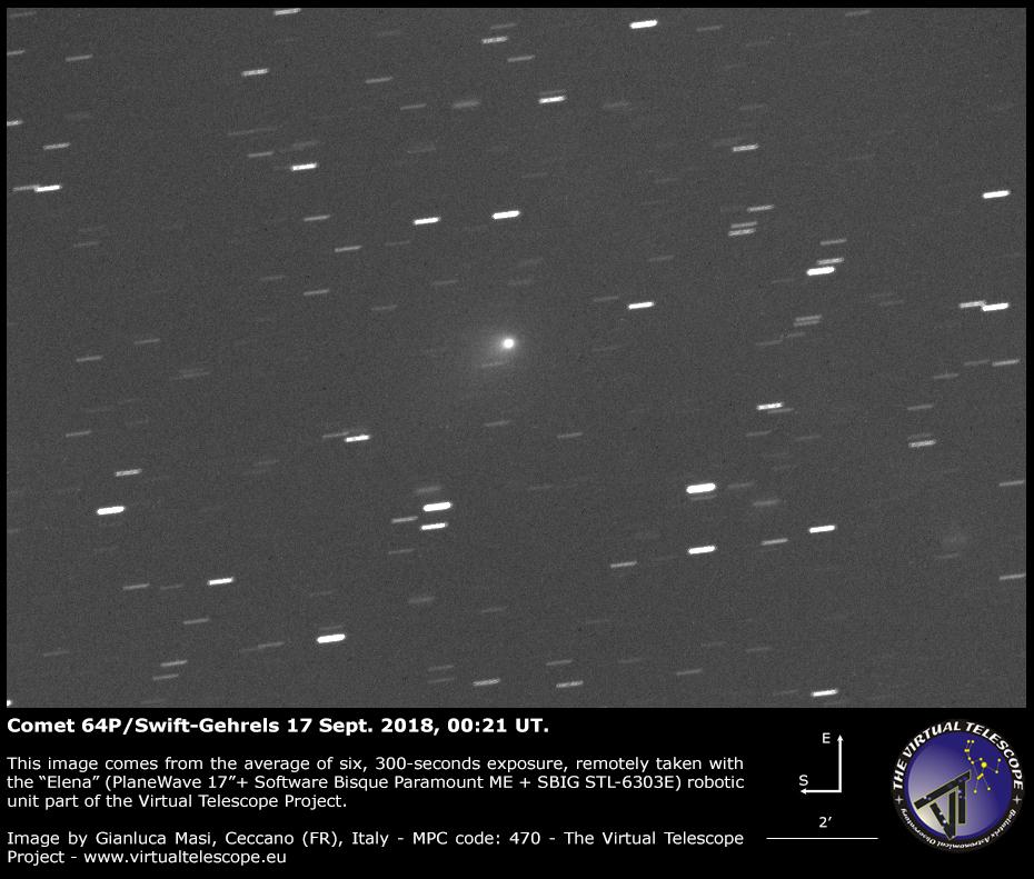 Comet 64P/Swift-Gehrels: 17 Sept. 2018