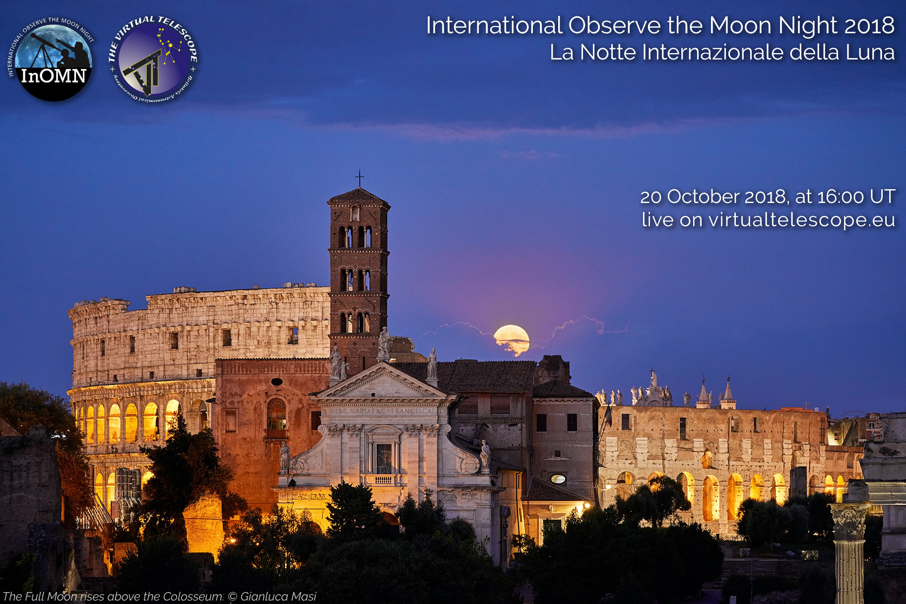 International Observe the Moon Night 2018: online observation - 20 Oct. 2018