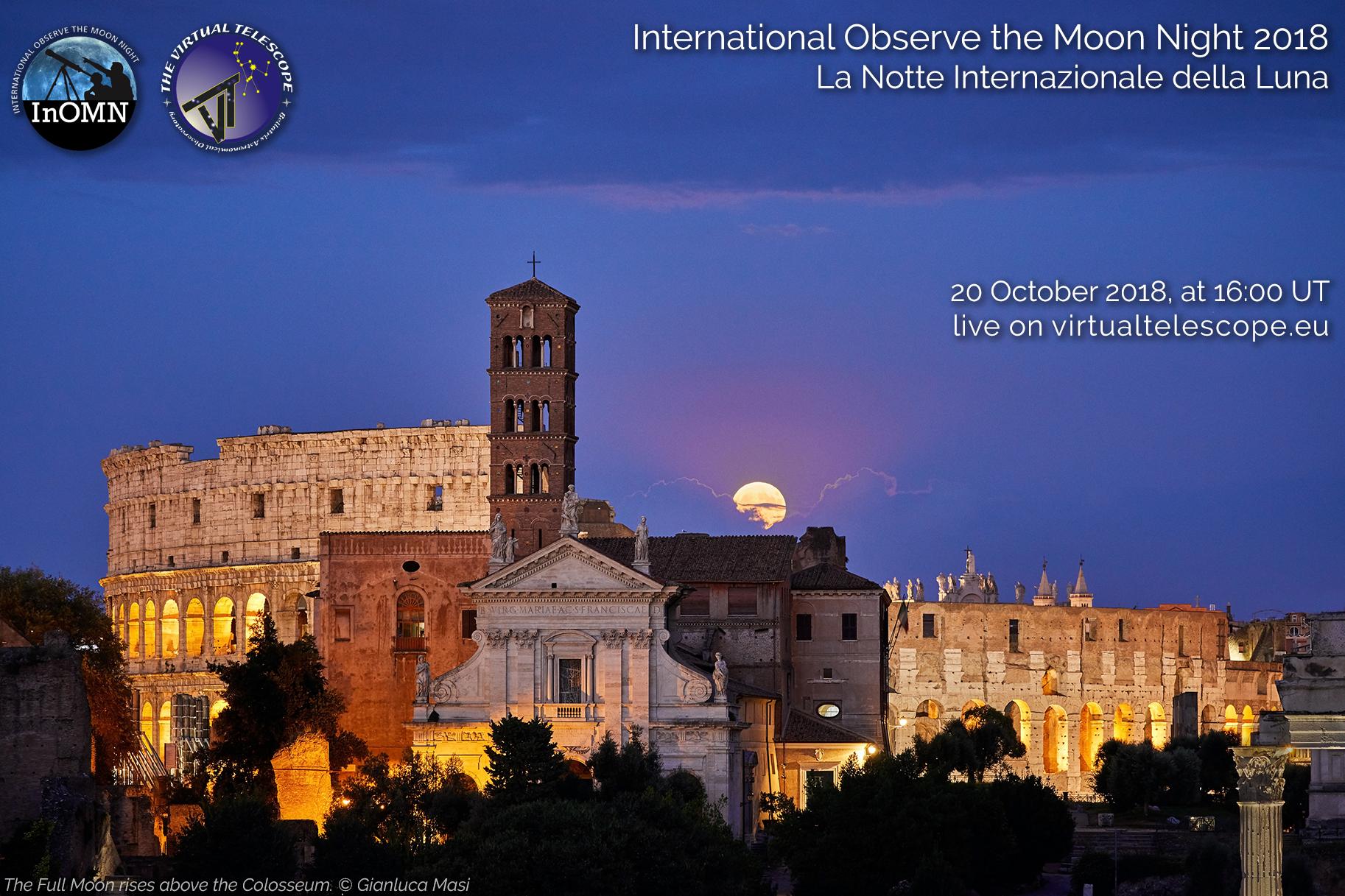 International Observe the Moon Night 2018: online observation - 20 Oct. 2018