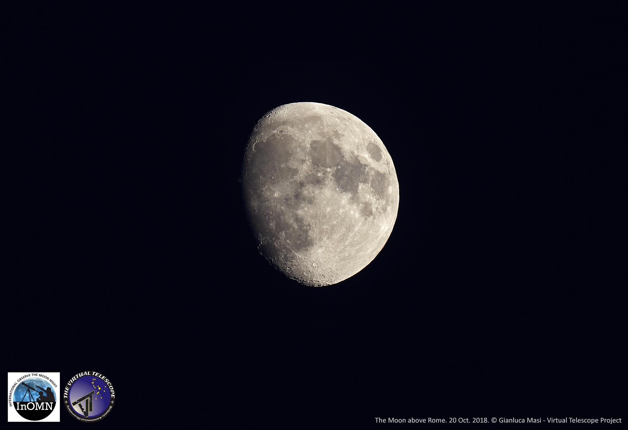 The Moon on its InOMN 2018 night - 20 Oct. 2018