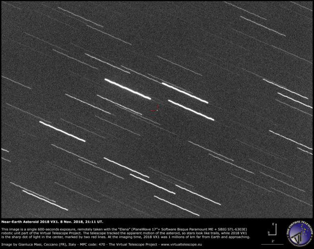Near-Earth Asteroid 2018 VX1: 8 Nov. 2018