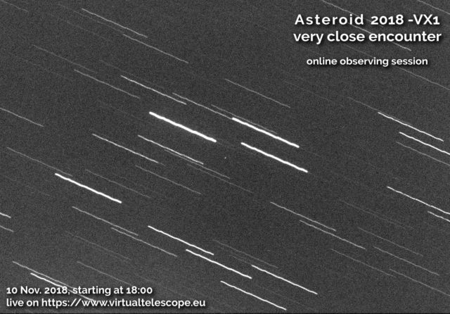 Near-Earth asteroid 2018 VX1: poster of the event