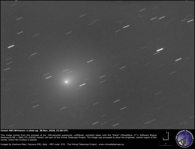Comet 46P/Wirtanen: 28 Nov. 2018