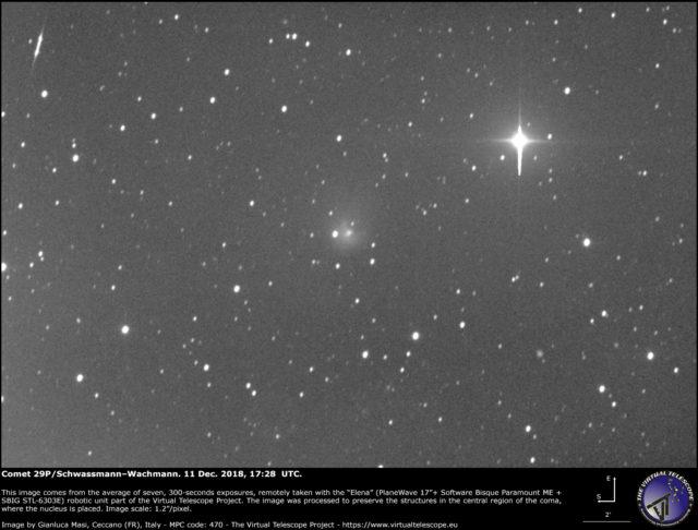 Comet 29P/Schwassmann–Wachmann: 11 Dec. 2018