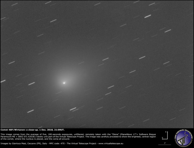 Comet 46P/Wirtanen: 1 Dec. 2018
