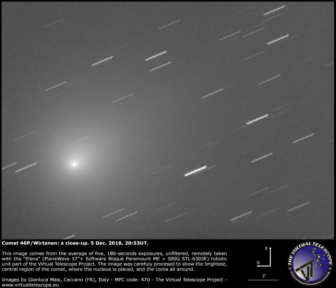 Comet 46P/Wirtanen: a close-up - 5 Dec. 2018