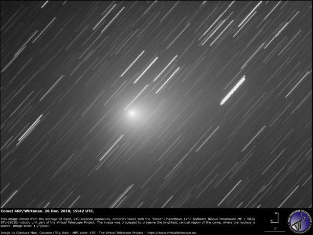 Comet 46P/Wirtanen: 26 Dec. 2018