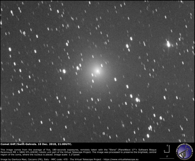 Comet 64P/Swift-Gehrels: 10 Dec. 2018