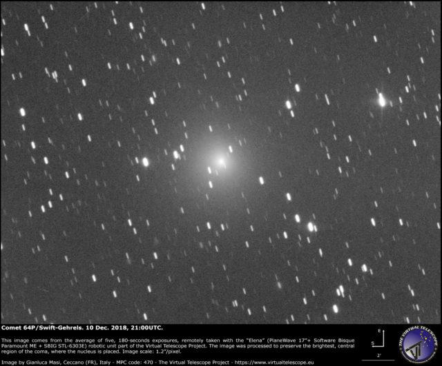 Comet 64P/Swift-Gehrels: 10 Dec. 2018