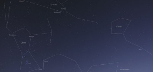 Comet 46P/Wirtanen shines among some of the most famous constellations and stars - 5 Dec. 2018