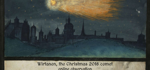 """""""Wirtanen, the Christmas 2018 comet"""": poster of the event"""