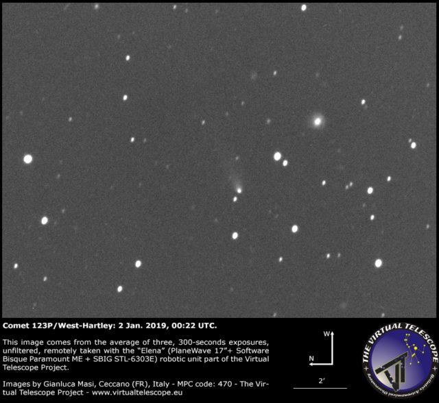 Comet 123P/West-Hartley: 1 Jan. 2019