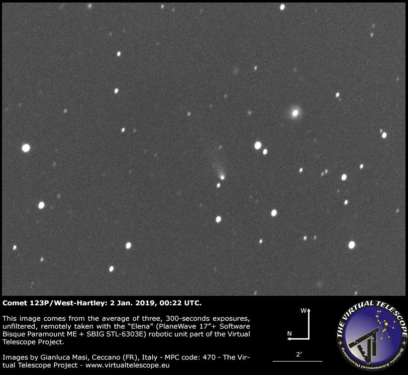Comet 123P/West-Hartley: An Image (2 Jan. 2019)