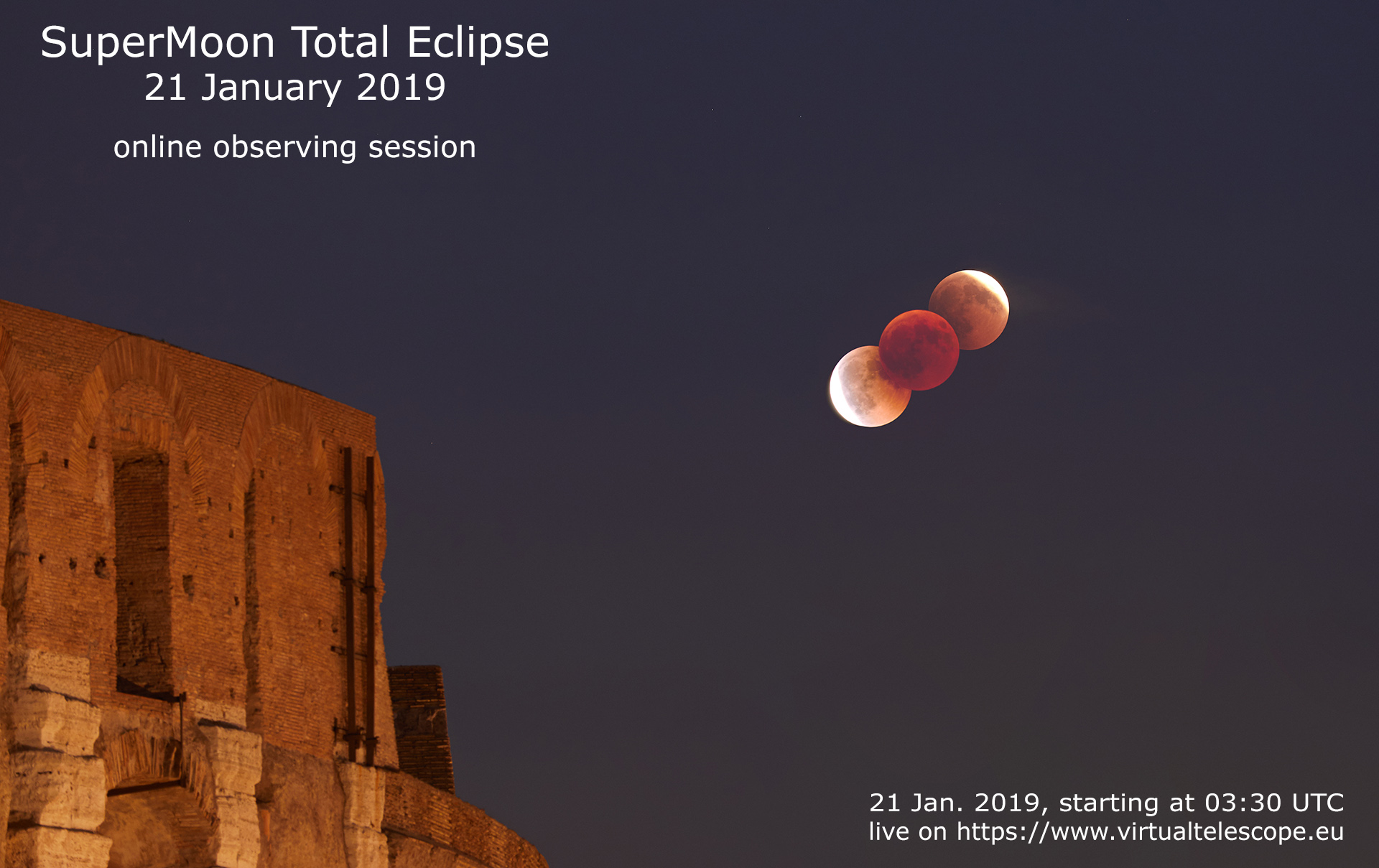 21 Jan. 2019 Total Lunar Eclipse - poster of the event