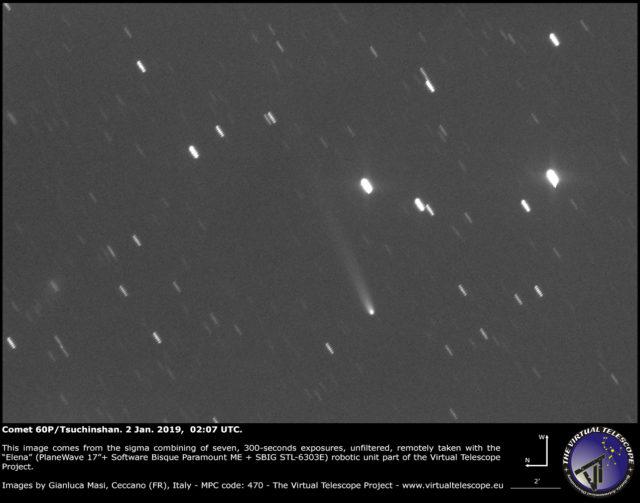 Comet 60P/Tsuchinshan: 2 Jan. 2019
