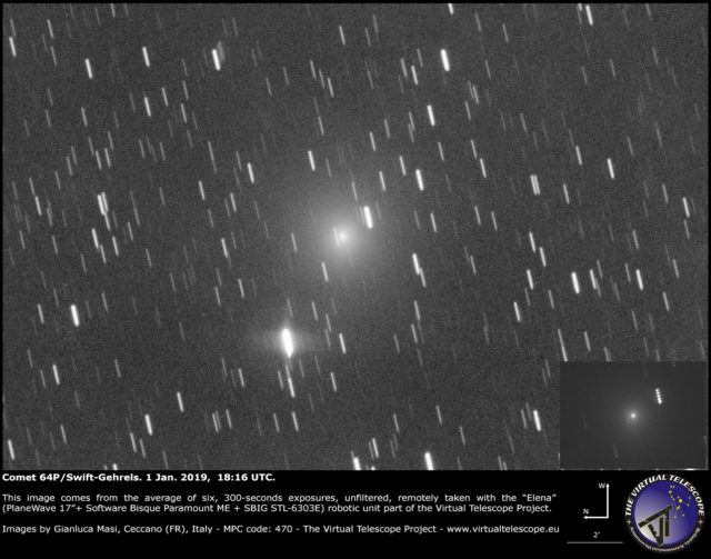 Comet 64P/Swift-Gehrels: 1 Jan. 2019