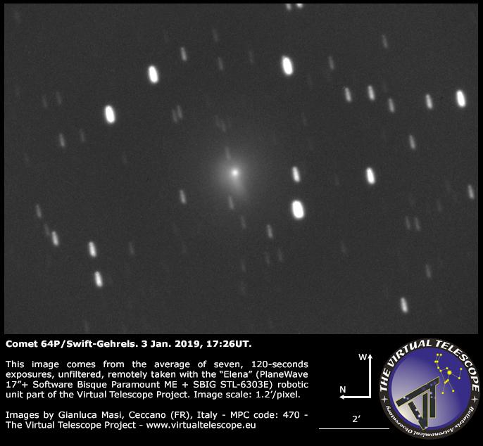 Comet 64P/Swift-Gehrels: 3 Jan. 2019