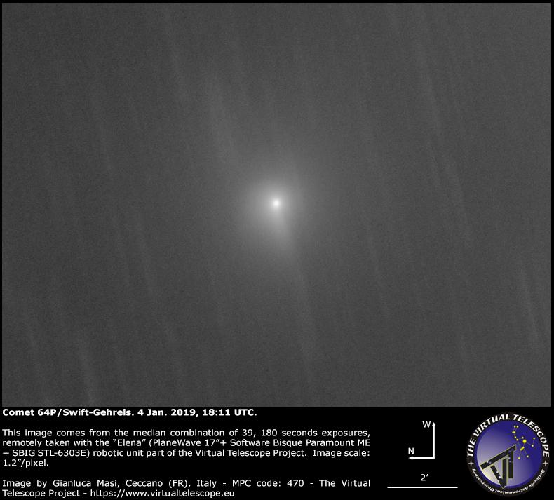 Comet 64P/Swift-Gehrels: 4 Jan. 2019