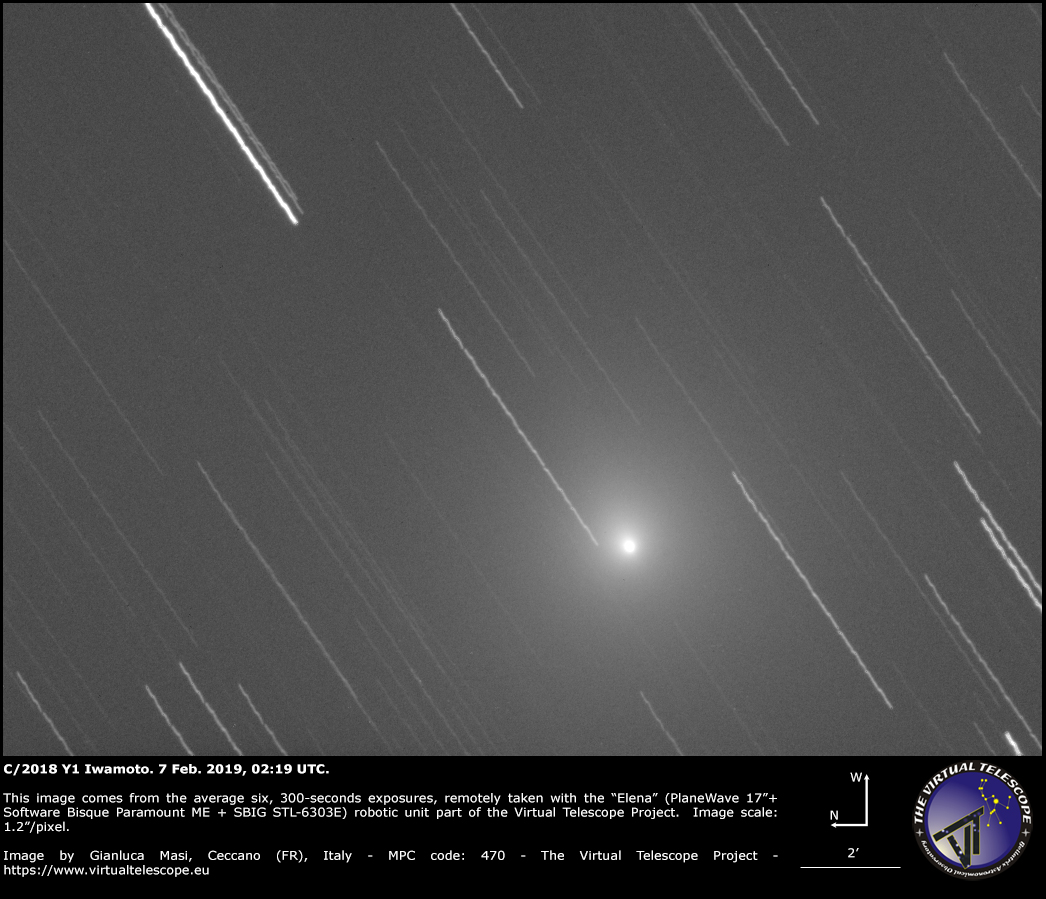 Comet C/2018 Y1 Iwamoto: 7 Feb. 2019
