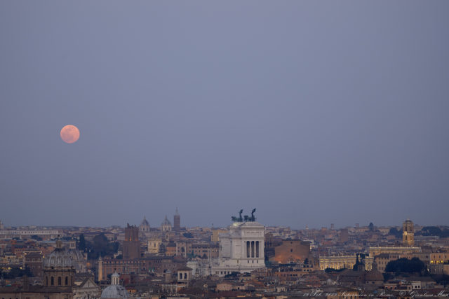 The Supermoon was magic to see after sunset from Rome - 19 Feb. 2019