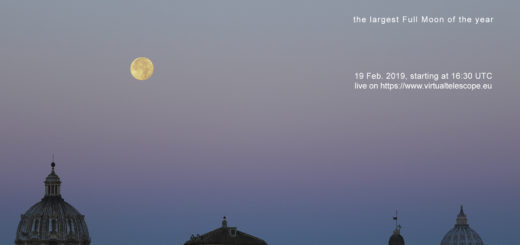 """""""SuperMoon 2019"""": poster of the event"""