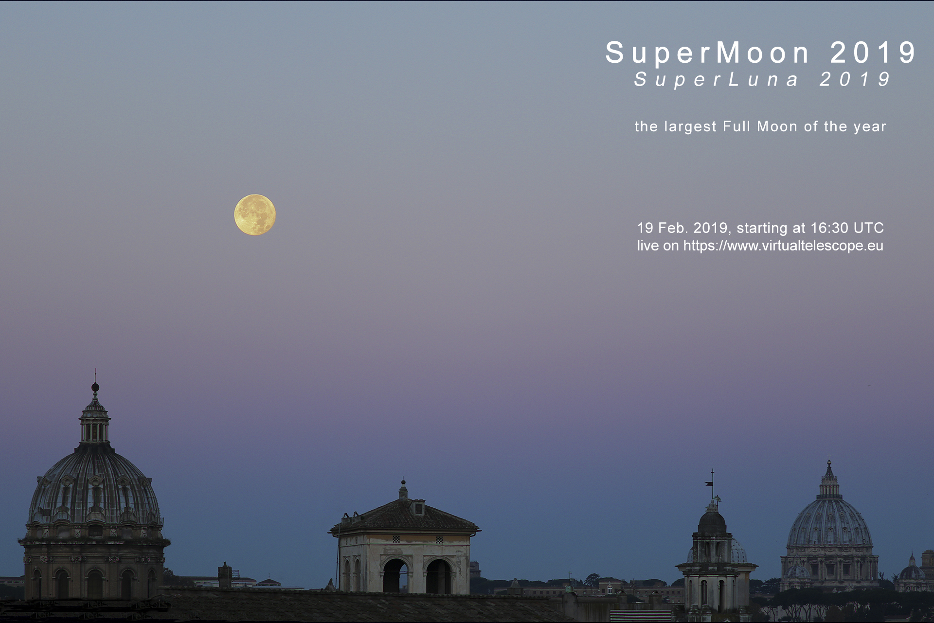 """SuperMoon 2019"": poster of the event"
