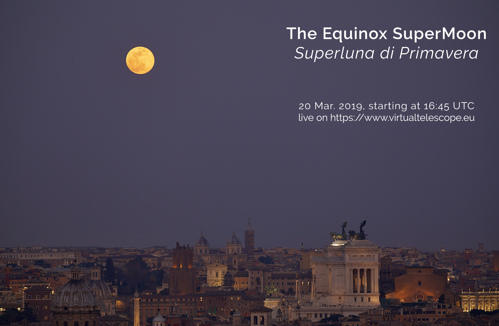 The 2019 Equinox SuperMoon: poster of the event