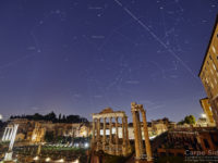 The International Space Station crosses the sky above the Roman Forum: constellations and main monuments are labelled - 22 Mar. 2019