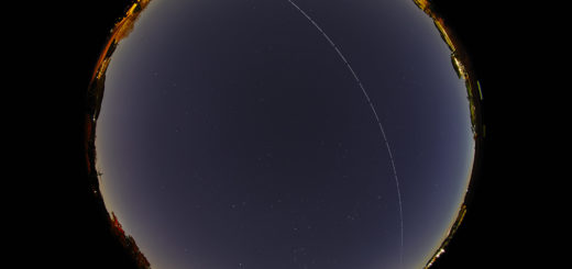 The International Space Station crosses the sky of Rome on 24 March 2019.
