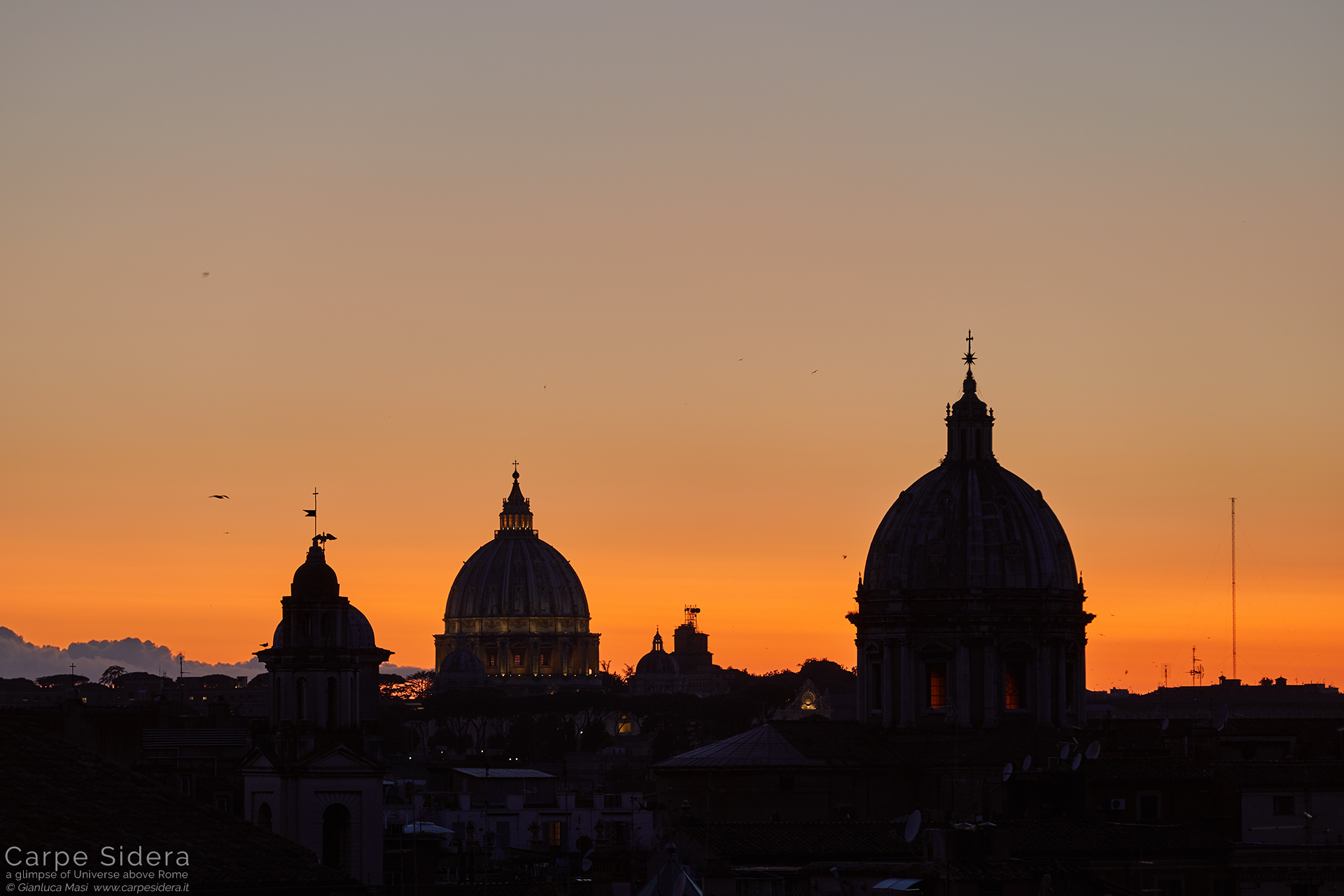 A close up to St. Peter's Dome (left) and Sant'Andrea della Valle (right)