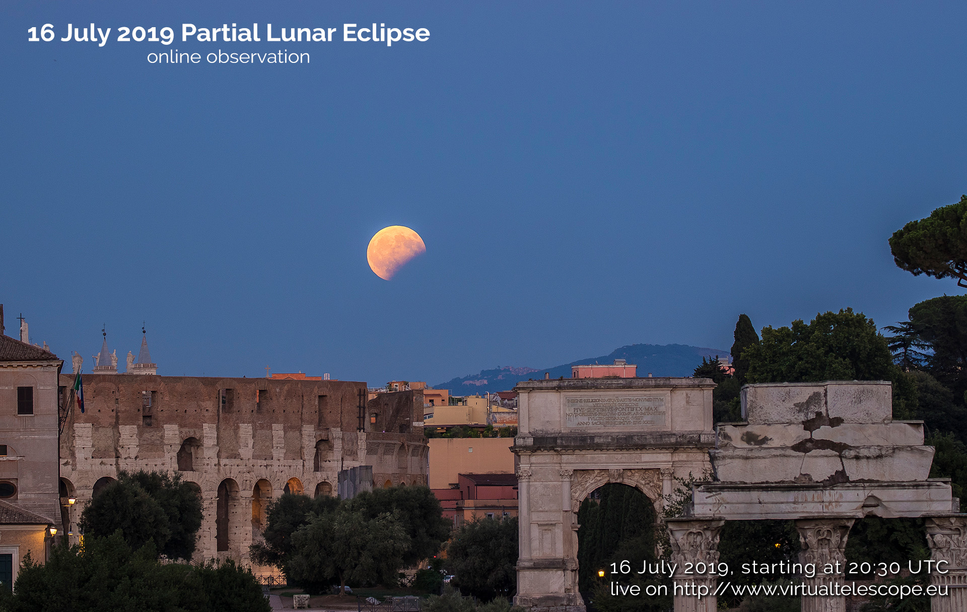 The 16 July 2019 partial lunar eclipse - poster of the event