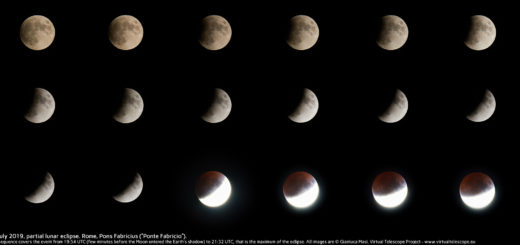 The 16 July 2019 lunar eclipse: from the start to the peak.