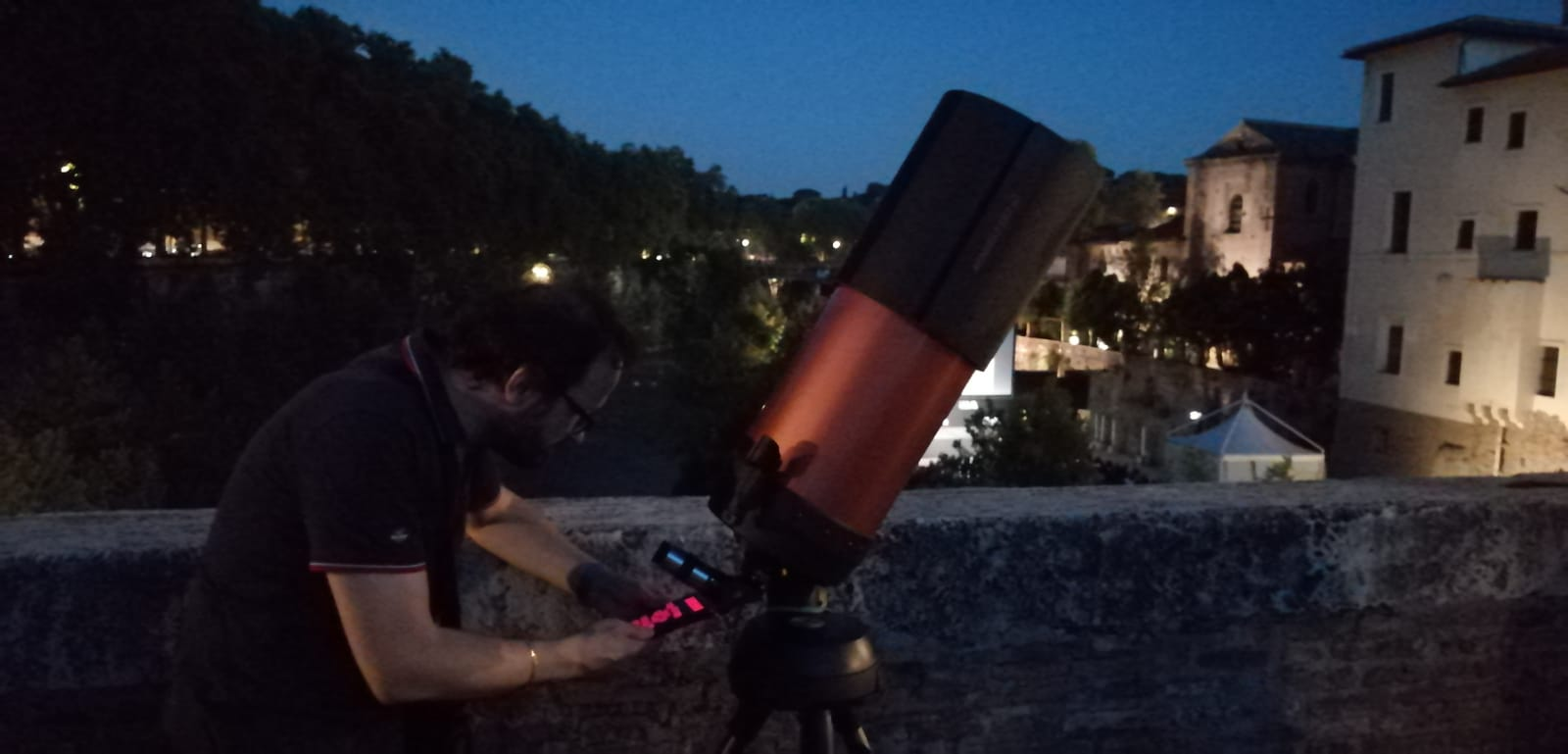 Preparing the telescope