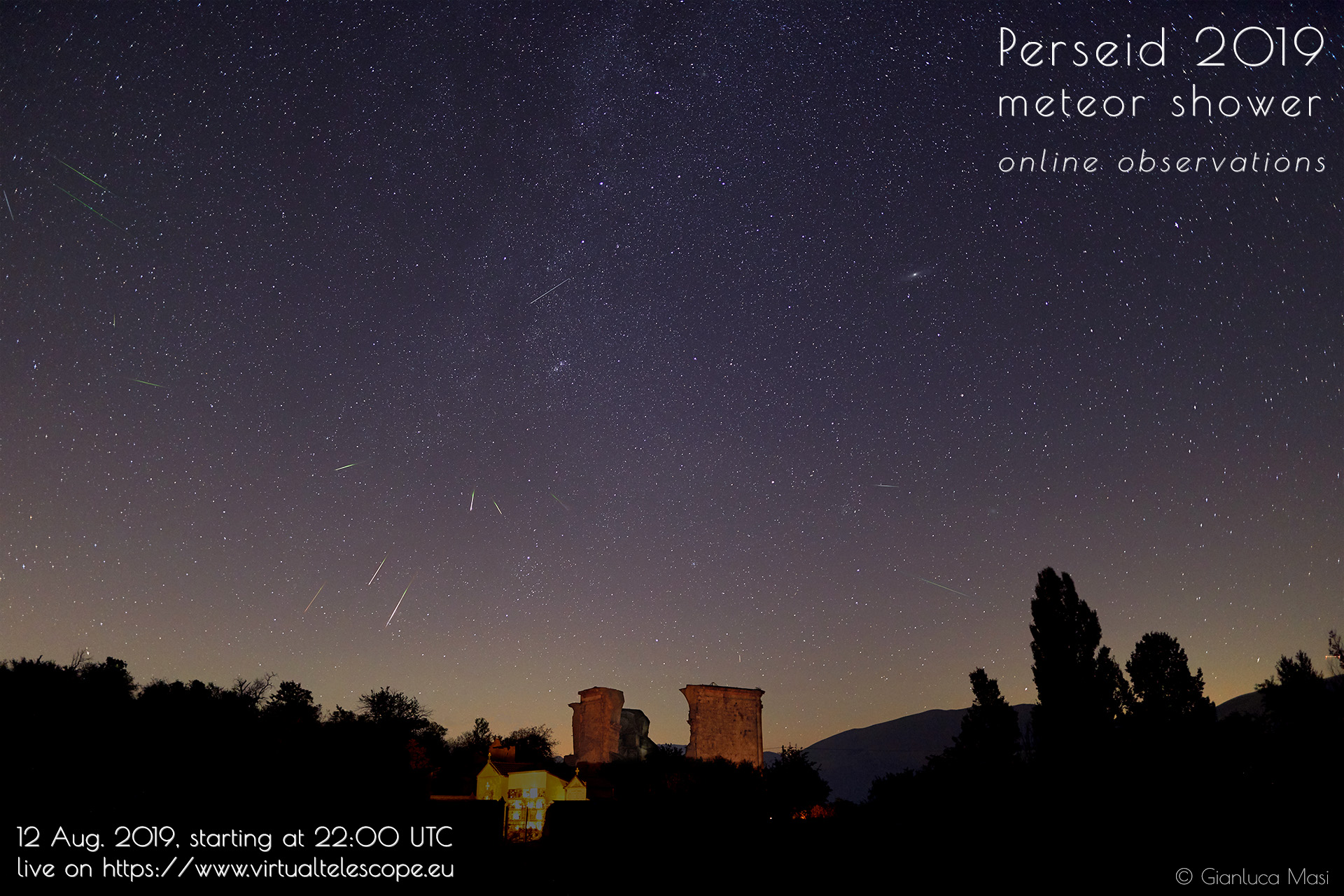 Perseids 2019: poster of the event
