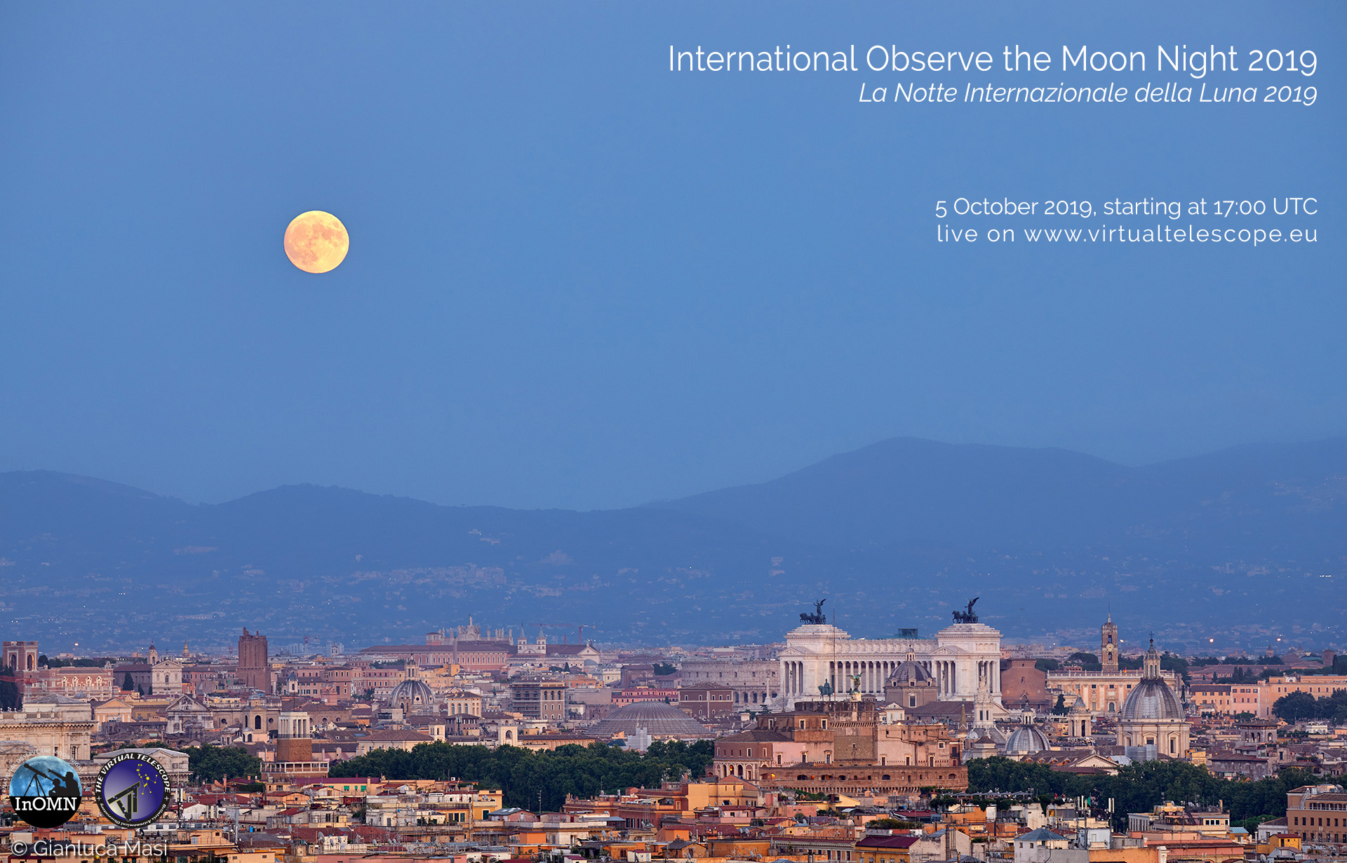 International Observe the Moon Night 2019: online observation - 5 Oct. 2019