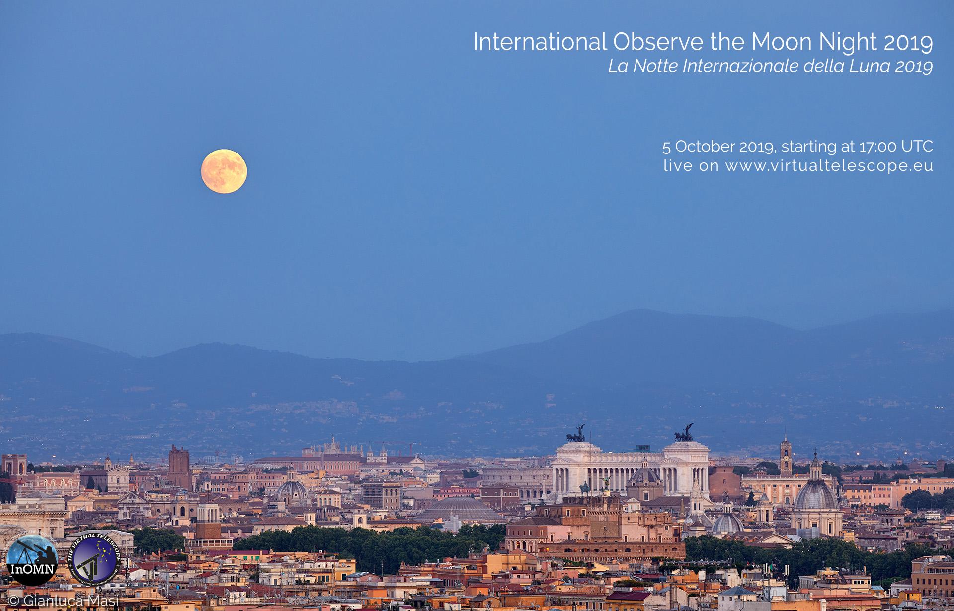 International Observe the Moon Night 2019: online observation - 5 Oct. 2019