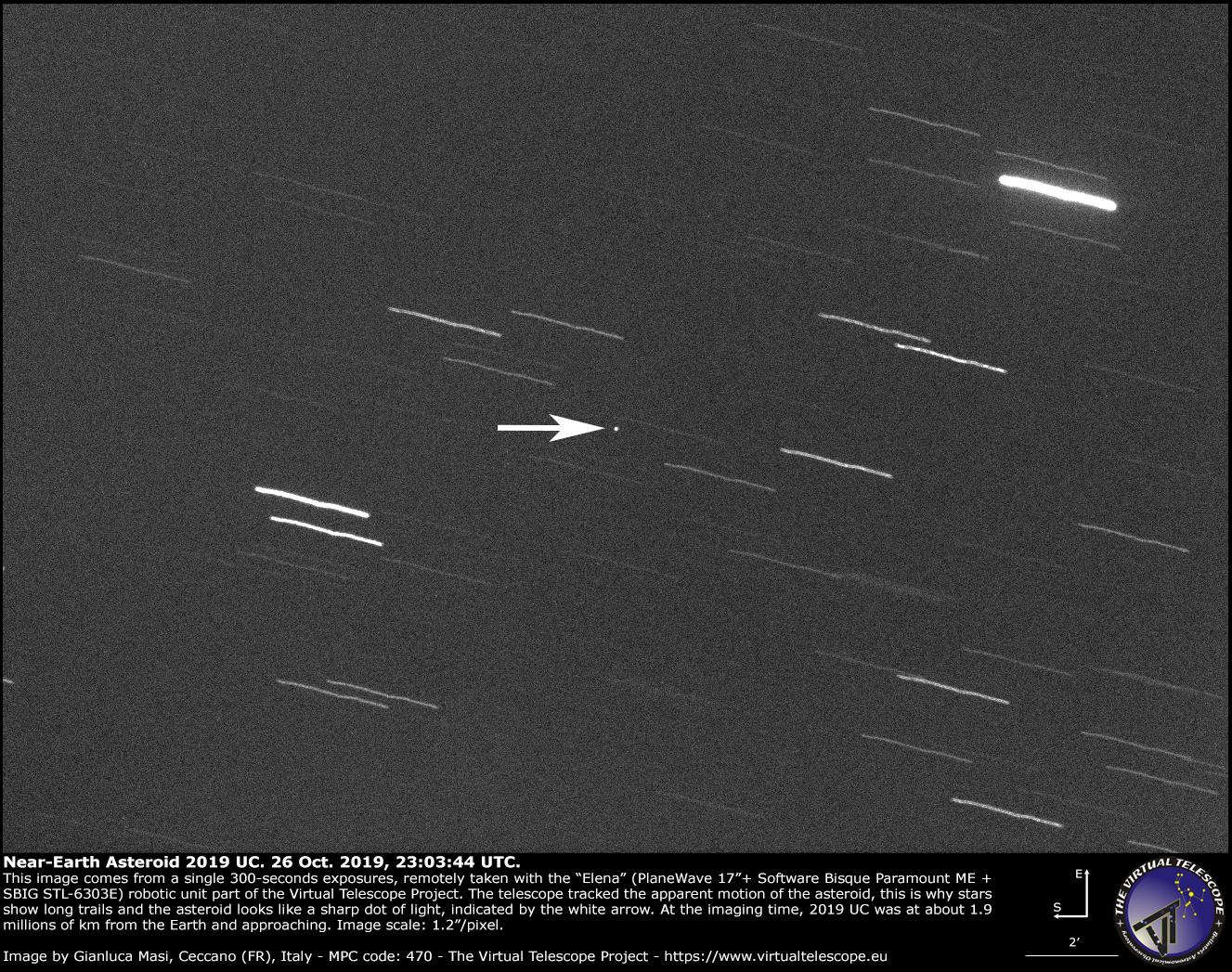 Near-Earth Asteroid 2019 UC: 26 Oct. 2019