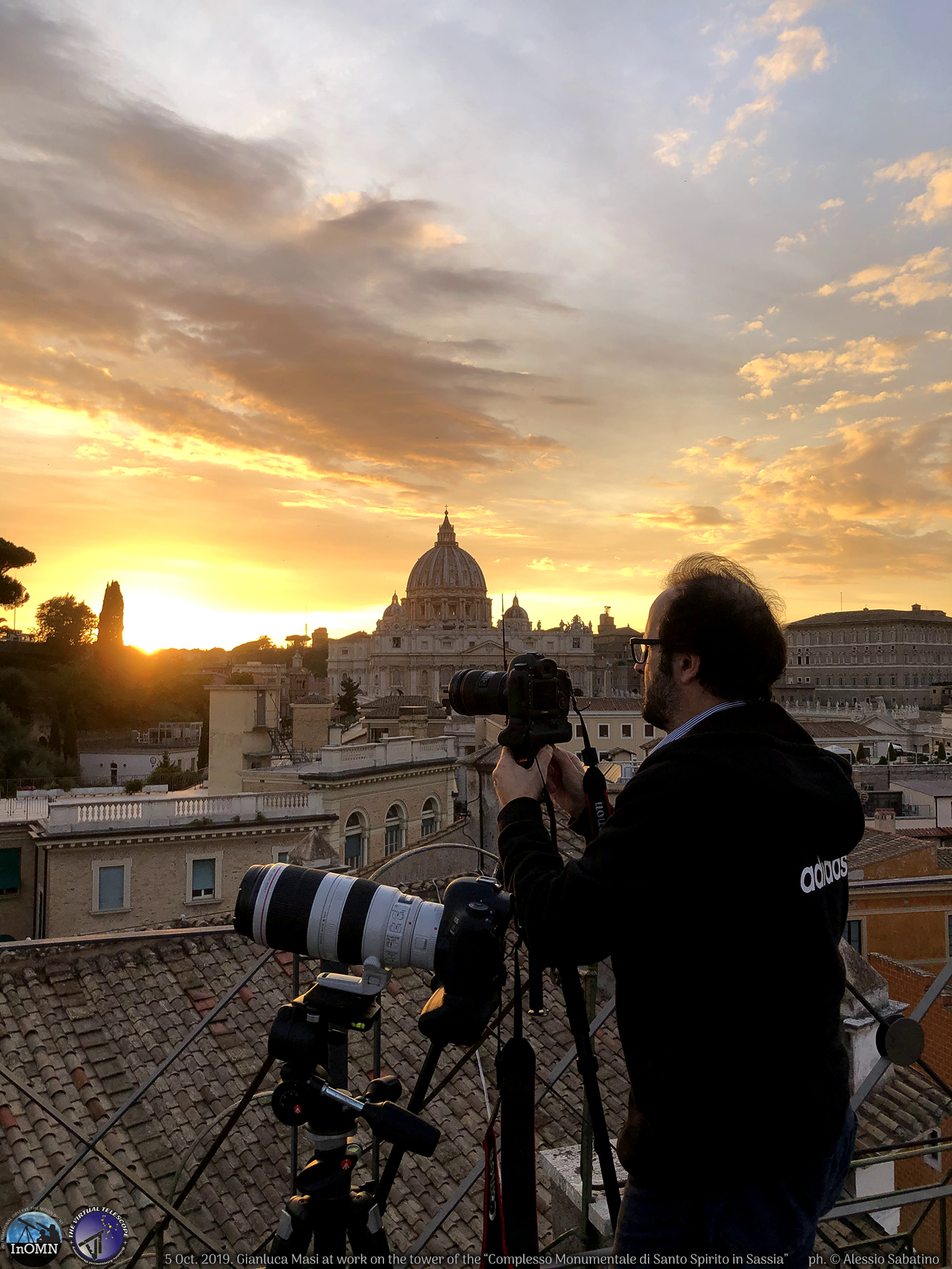 Super sunset while ready to start the live feed. Ph. Alessio Sabatino