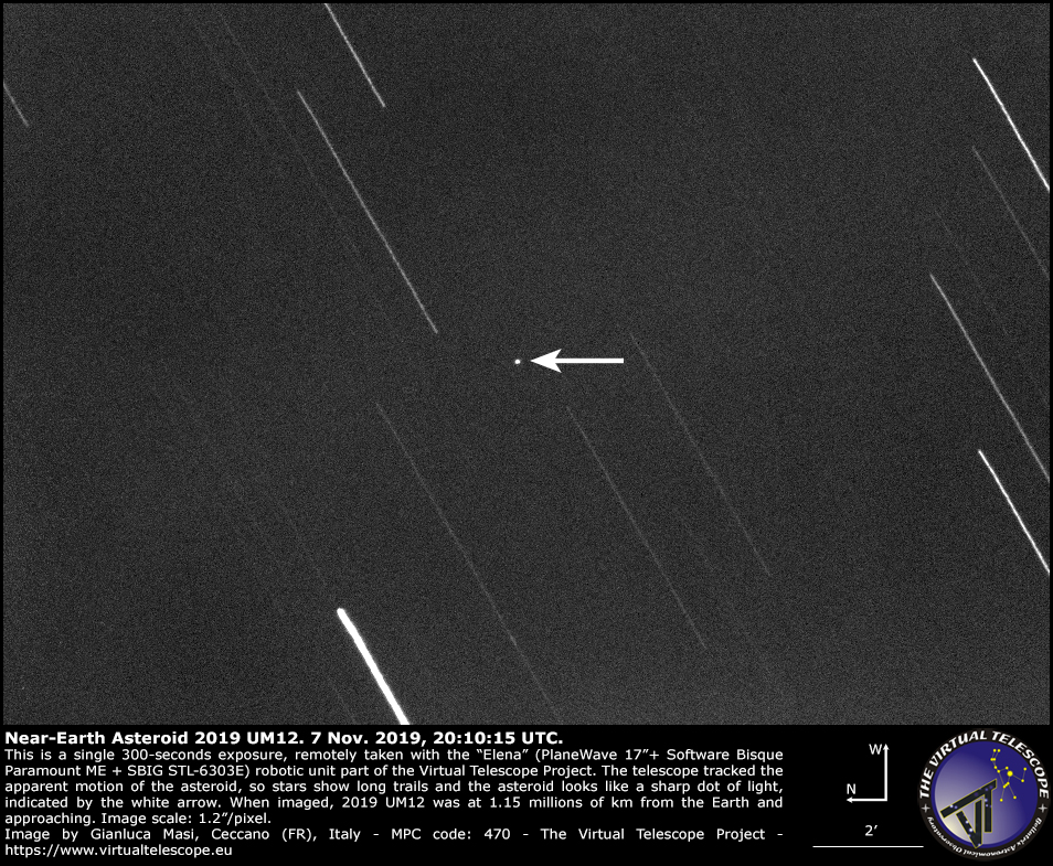 Near-Earth Asteroid 2019 UM12: 7 Nov. 2019