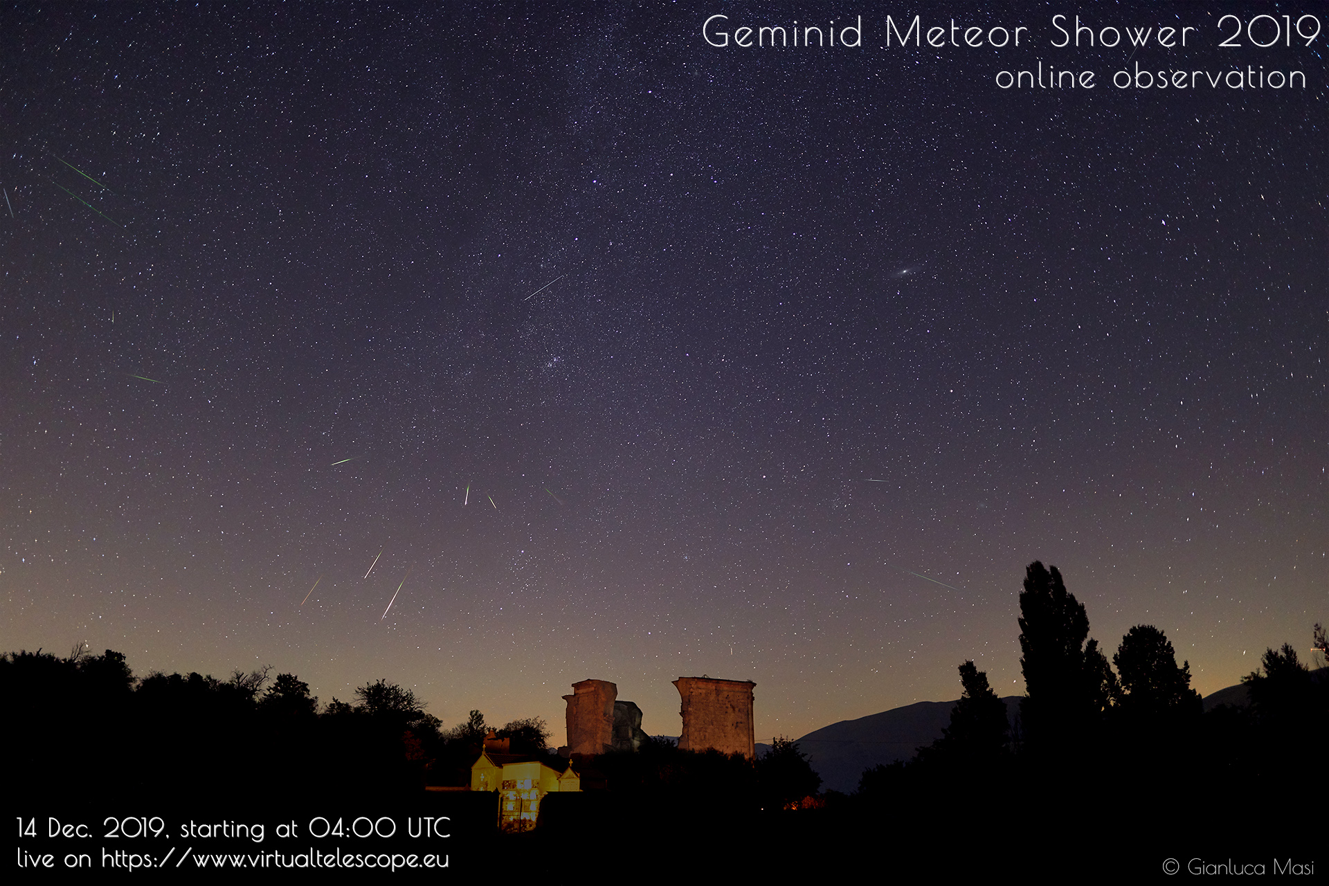 Geminids 2019: poster of the event
